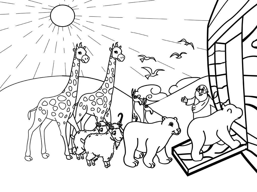 Noahs Ark Coloring Pages Bible Coloring Pages Sunday School
