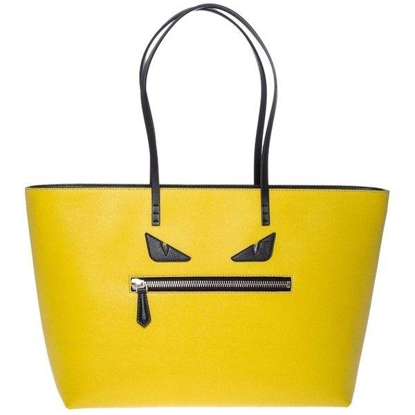 Pre-owned Fendi Monster Roll Medium Yellow Tote Bag ( 1 b4d7697eae6f0