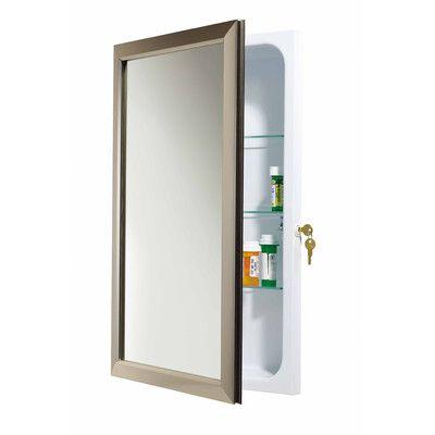 Locking Medicine Cabinet Surface Mount Medicine Cabinet Bathroom Medicine Cabinet Steel Shelf