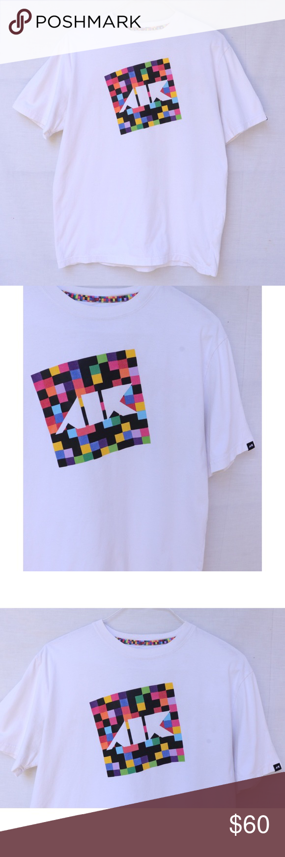 RARE Colorful Checkered Nike AIR Graphic TShirt Nike air