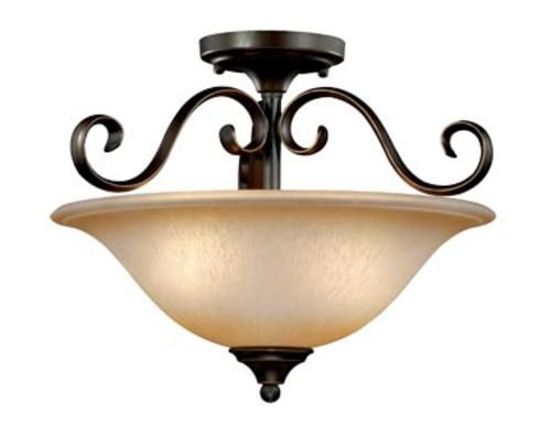 Mavis 2 light 15 5 oil brushed bronze gold accent semi ceiling light at