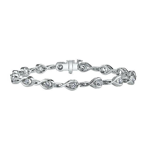 Diamond Bracelet In 14k White Gold 2284834 Helzberg Diamonds