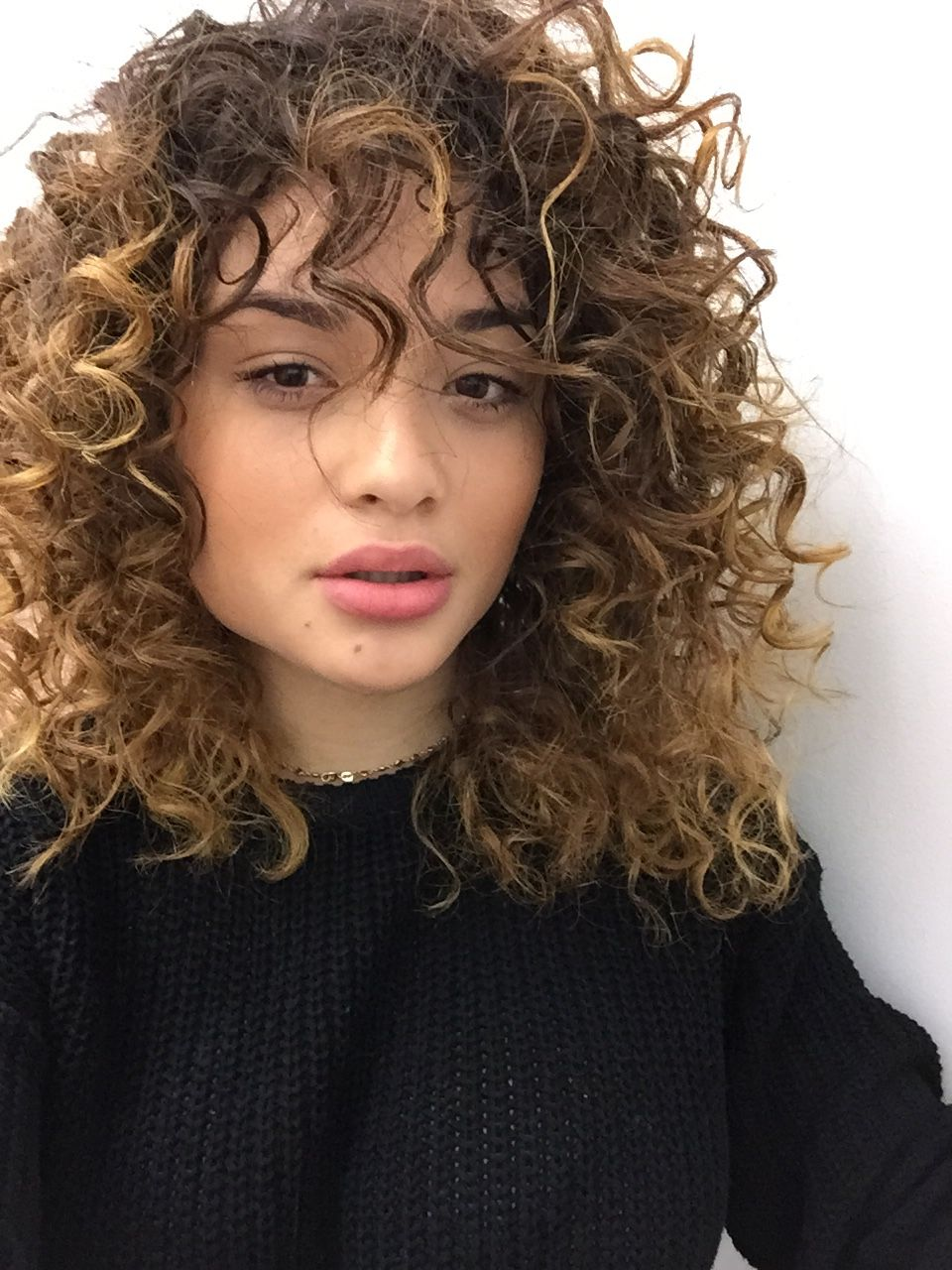 50 Cute Trendy Curly Hairstyles With Bangs In 2018 Funky Curly Hair Curly Hair Styles Hair Styles