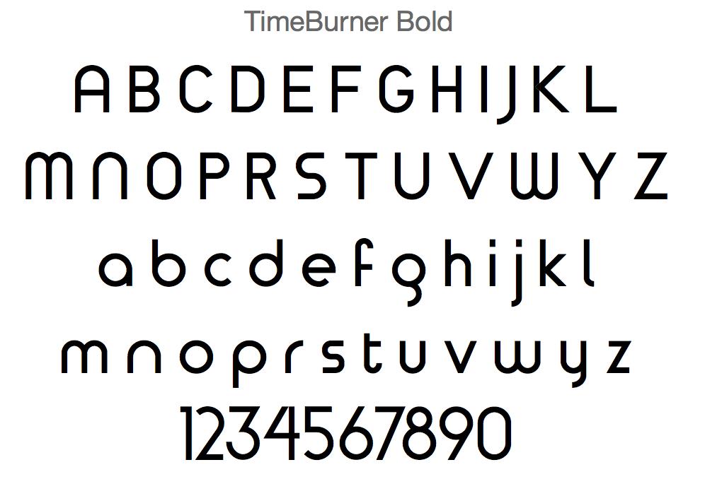 Timeburner Monoline Font
