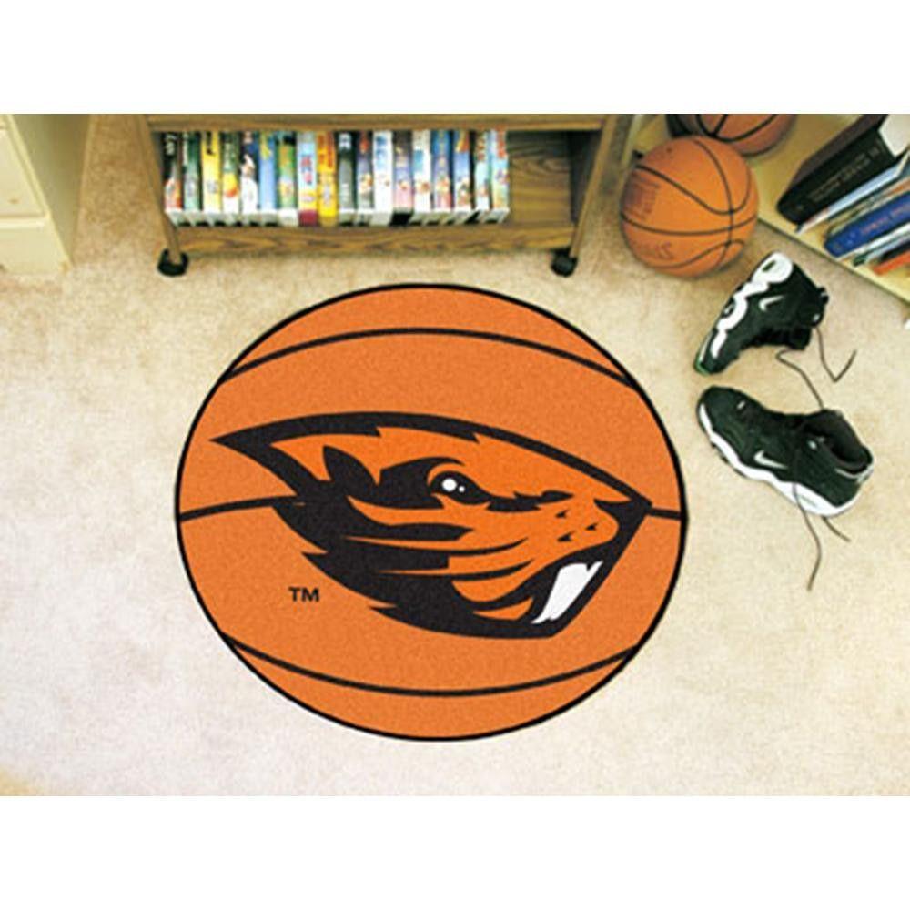 Oregon State Beavers NCAA Basketball Round Floor Mat (29
