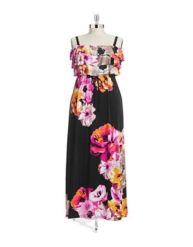Brands Dresses Plus Tiered Maxi Dress Hudsons Bay Fashion