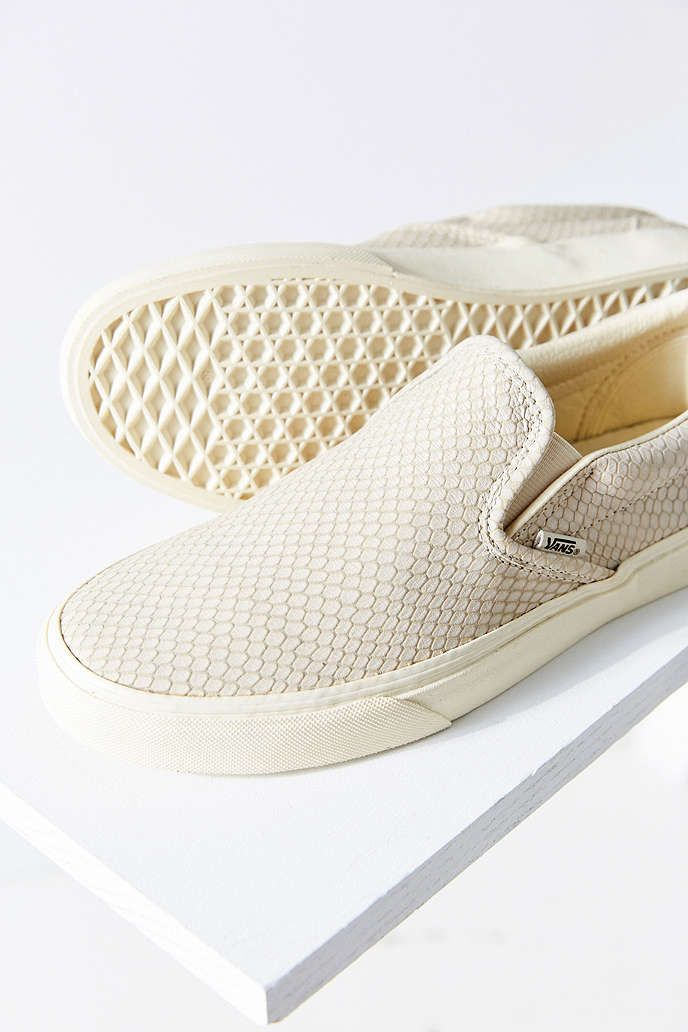 07a1e23c6d Vans Snake Leather Classic Slip-On Sneaker - Urban Outfitters