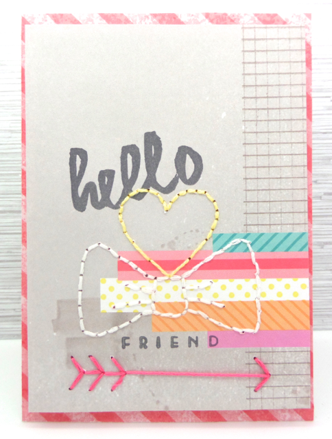 Designed by: Annette Allen Using: Amy Tangerine Stitching Stencils and Papertrey Ink Wet Paint