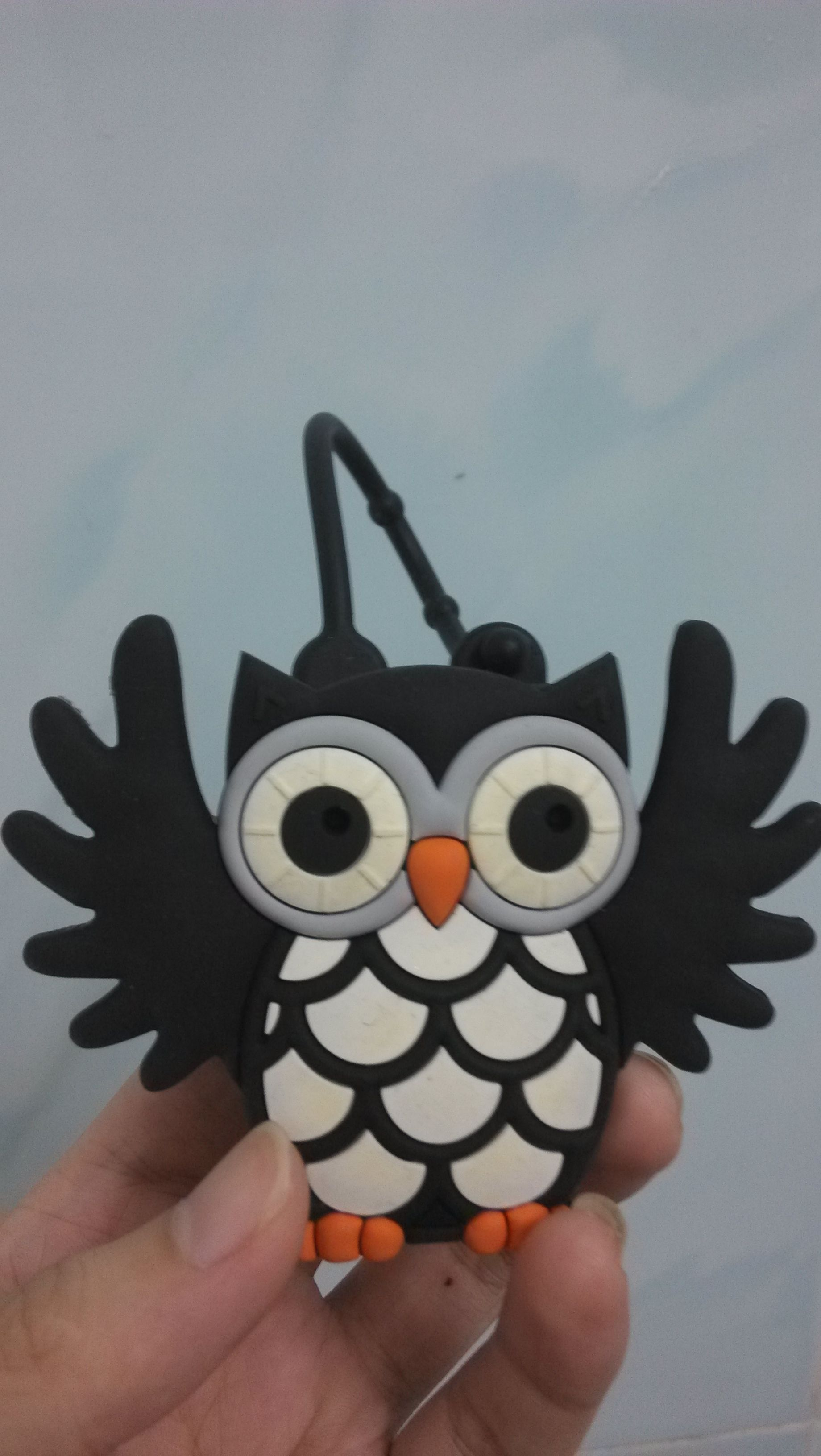 Black Owl Pocketbac Holder Silicone Hand Sanitizer Holder Bath
