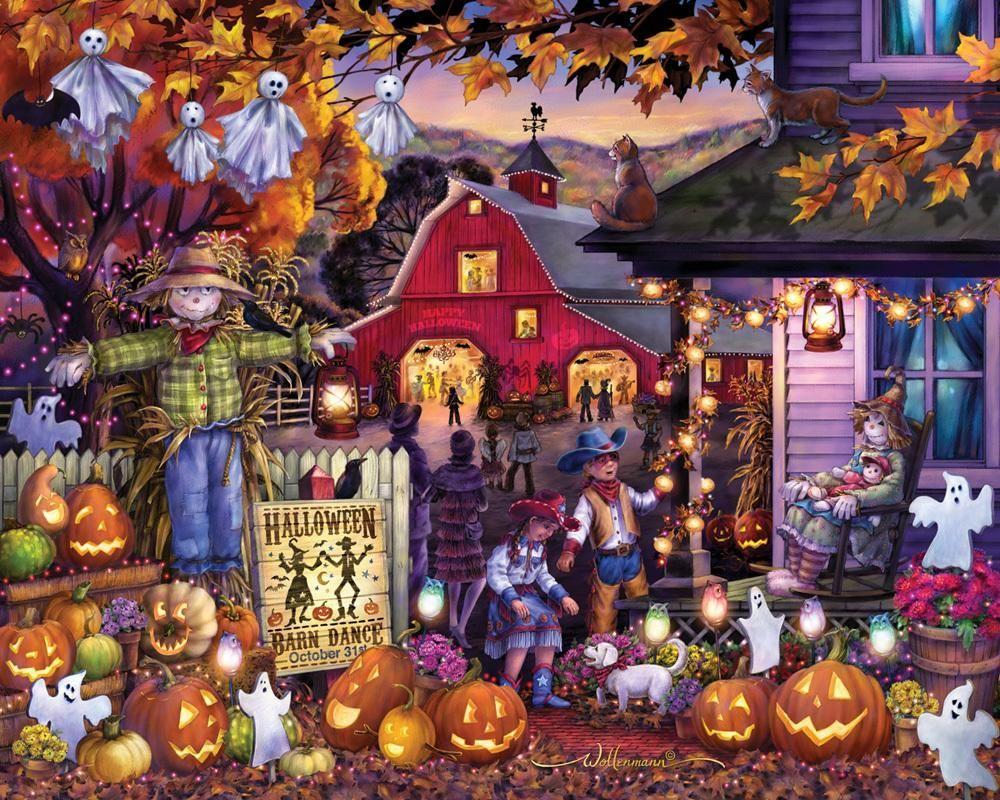 Halloween barn dance jigsaw puzzle 1000 pieces