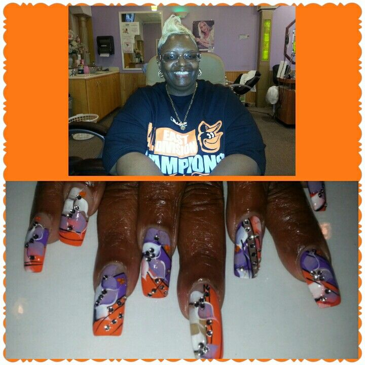 Mrs. Carolyn Represents The Baltimore Orioles & The Baltimore Ravens!