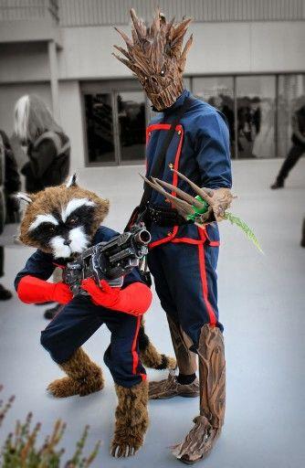 Marvel Cosplay - Groot and Rocket Raccoon
