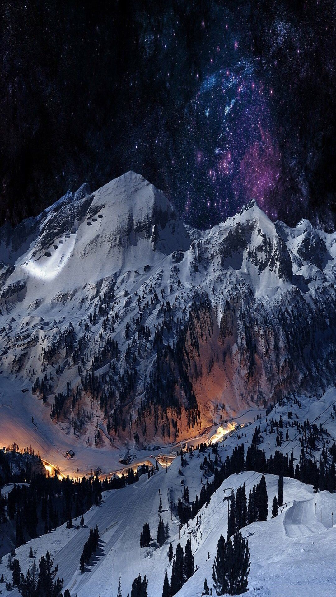 iPhone wallpaper | iPhone Wallpapers. | Winter mountain ...