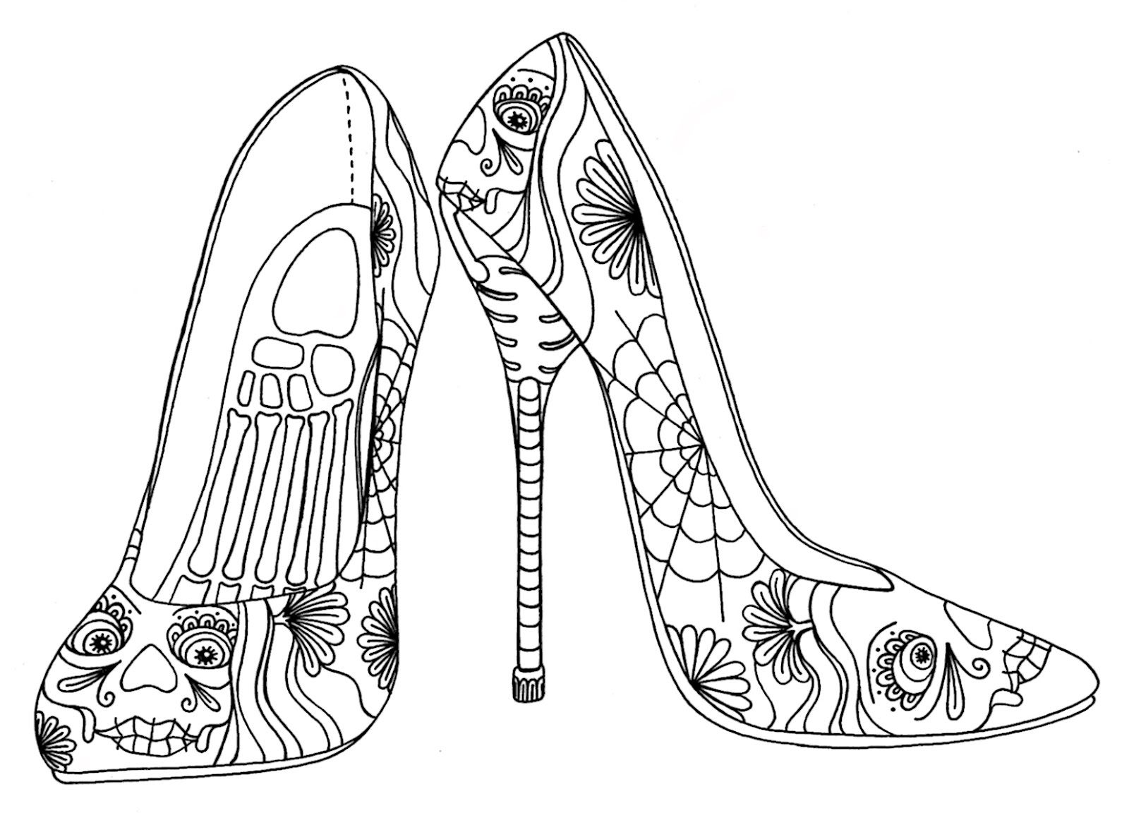 - Wenchkin's Coloring Pages - Day Of The Heels Plus Bonus Page (With