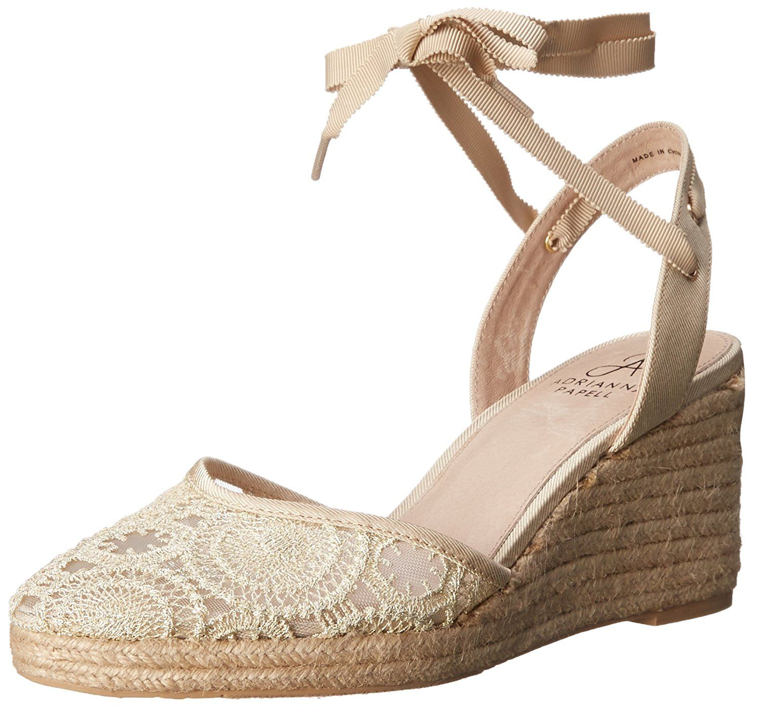 Adrianna Papell Women's Penny Espadrille Wedge Sandal *** Awesome outdoor product. Click the image : Wedge sandals