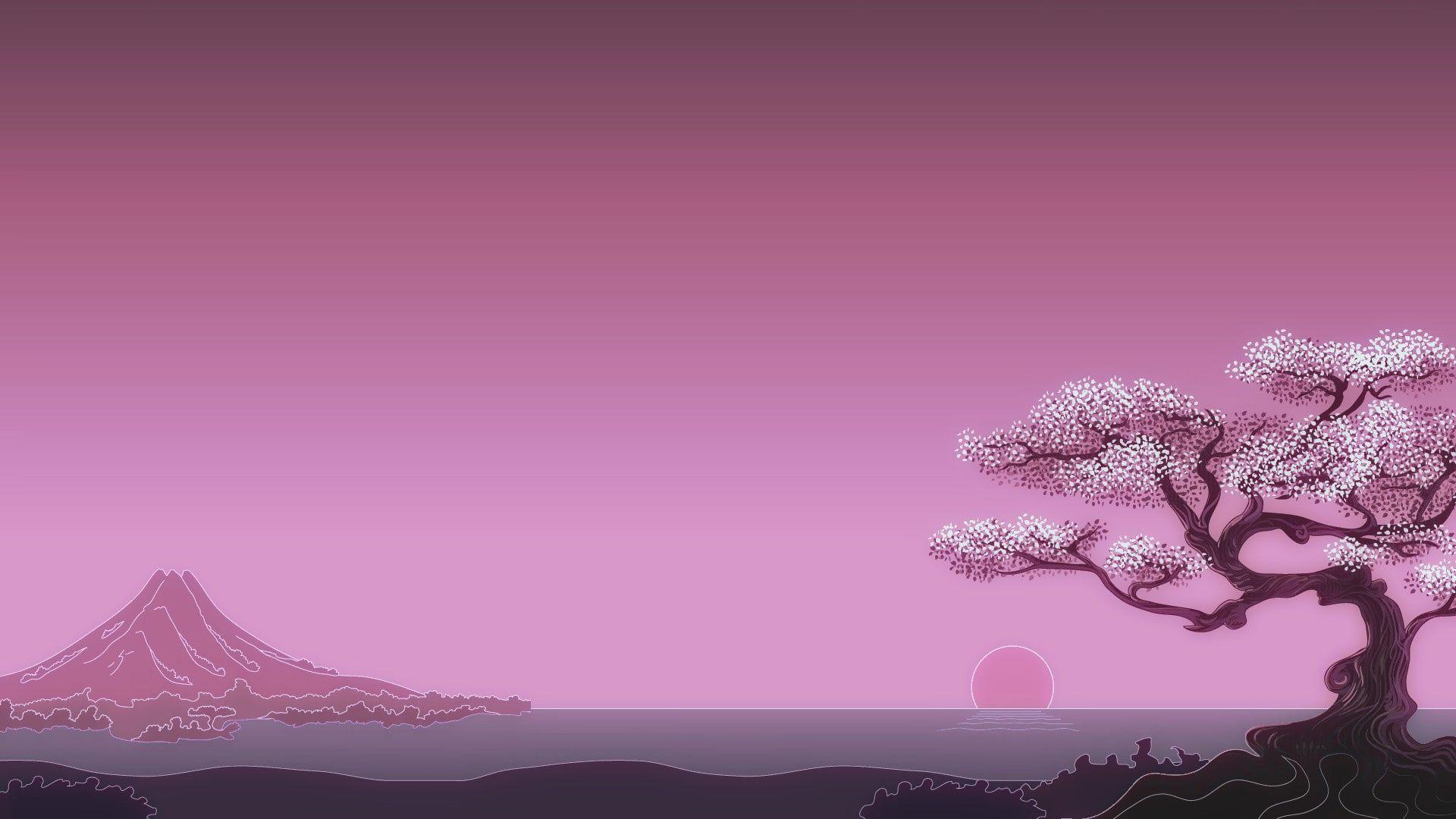 1920x1080 Px Digital Art Japan Minimalism Simple Background Sun Trees Video Games Star Wars Hd Art Trees Su Art Wallpaper Minimal Art Wallpaper Japanese Art