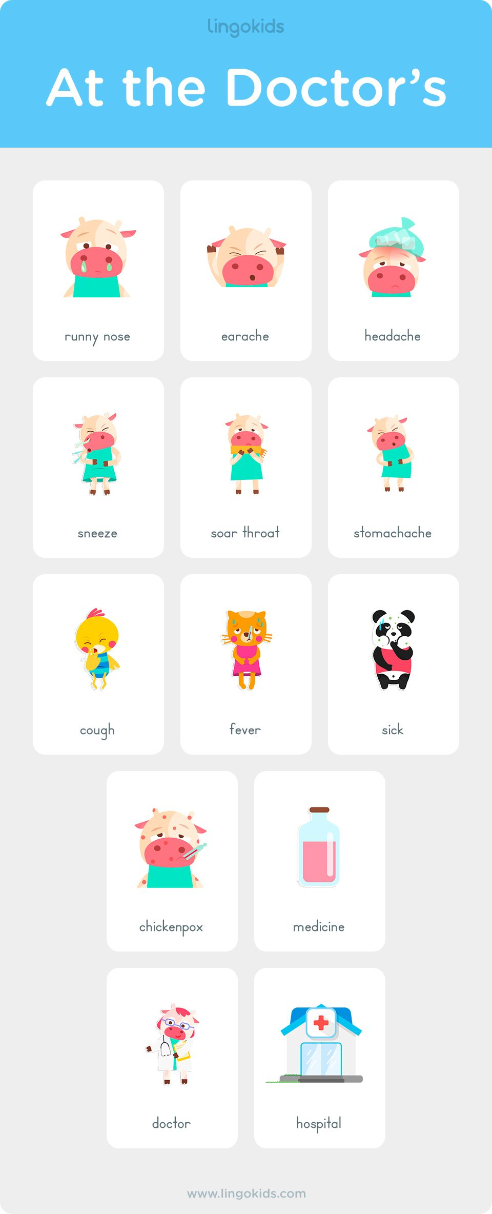 At The Doctor S Vocabulary In English English Games For Kids Teach English To Kids Learn English Kid [ 2368 x 960 Pixel ]