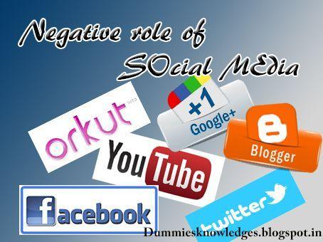 Negative role of Social Media
