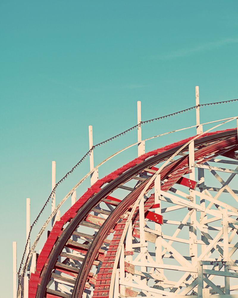 Vintage Santa Cruz Roller Coaster Art Print By
