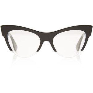 miu miu black acetate cat eye glasses - Miu Miu Glasses Frames