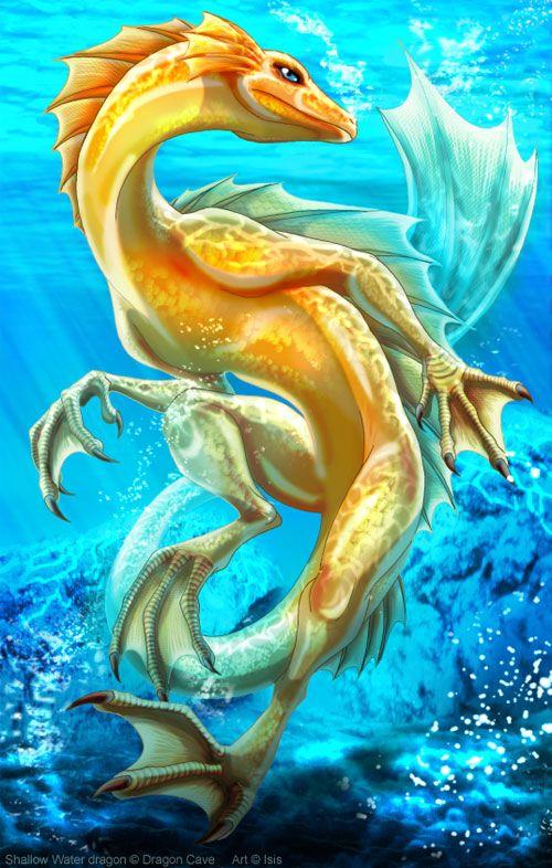 22 Cool Water Dragon Illustrations on http://naldzgraphics.net