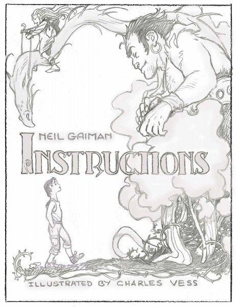Charles Vess Art for Neil Gaiman Instructions