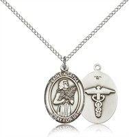 St. Agatha / Nurse Medals - Sterling Silver St. Agatha / Nurse Pendant Including 18 Inch Necklace