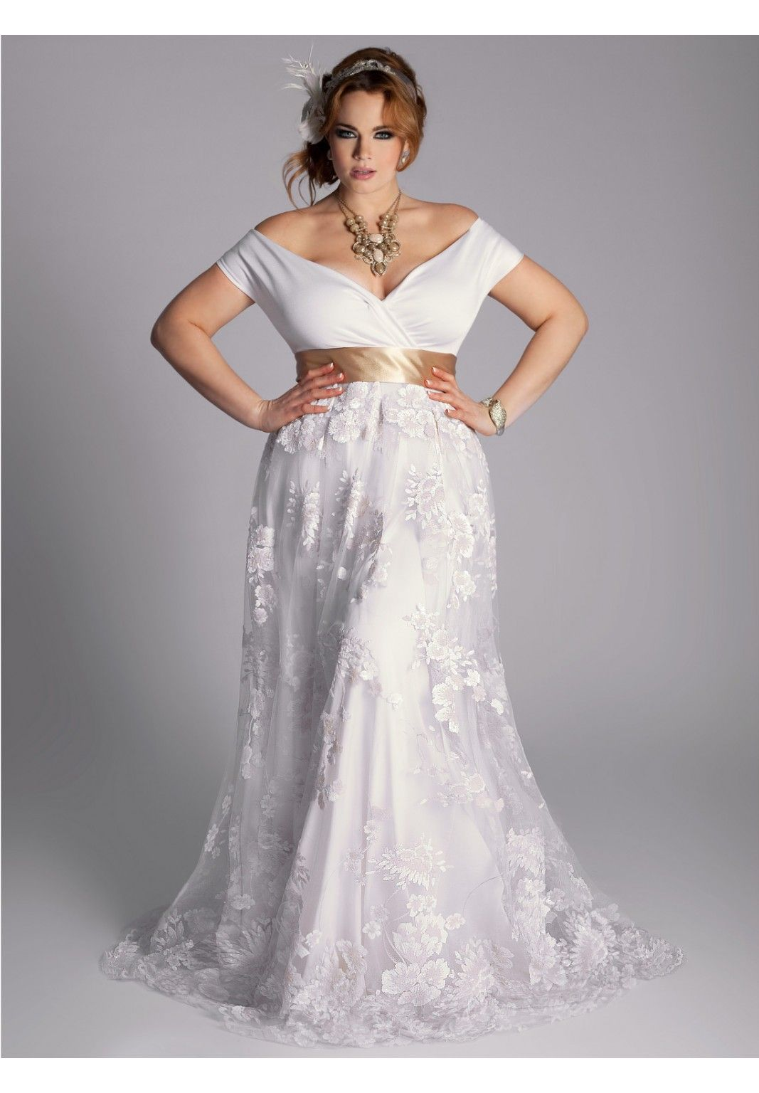 Plus Size Eugenia Vintage Wedding Gown Plus Size Dresses One