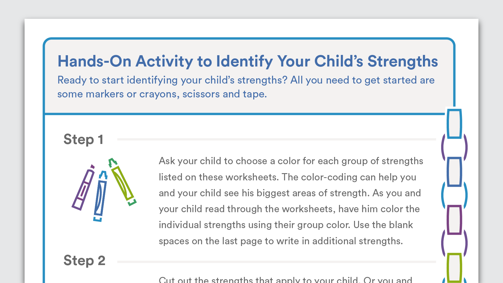 Download Strengths Chain For Your Child
