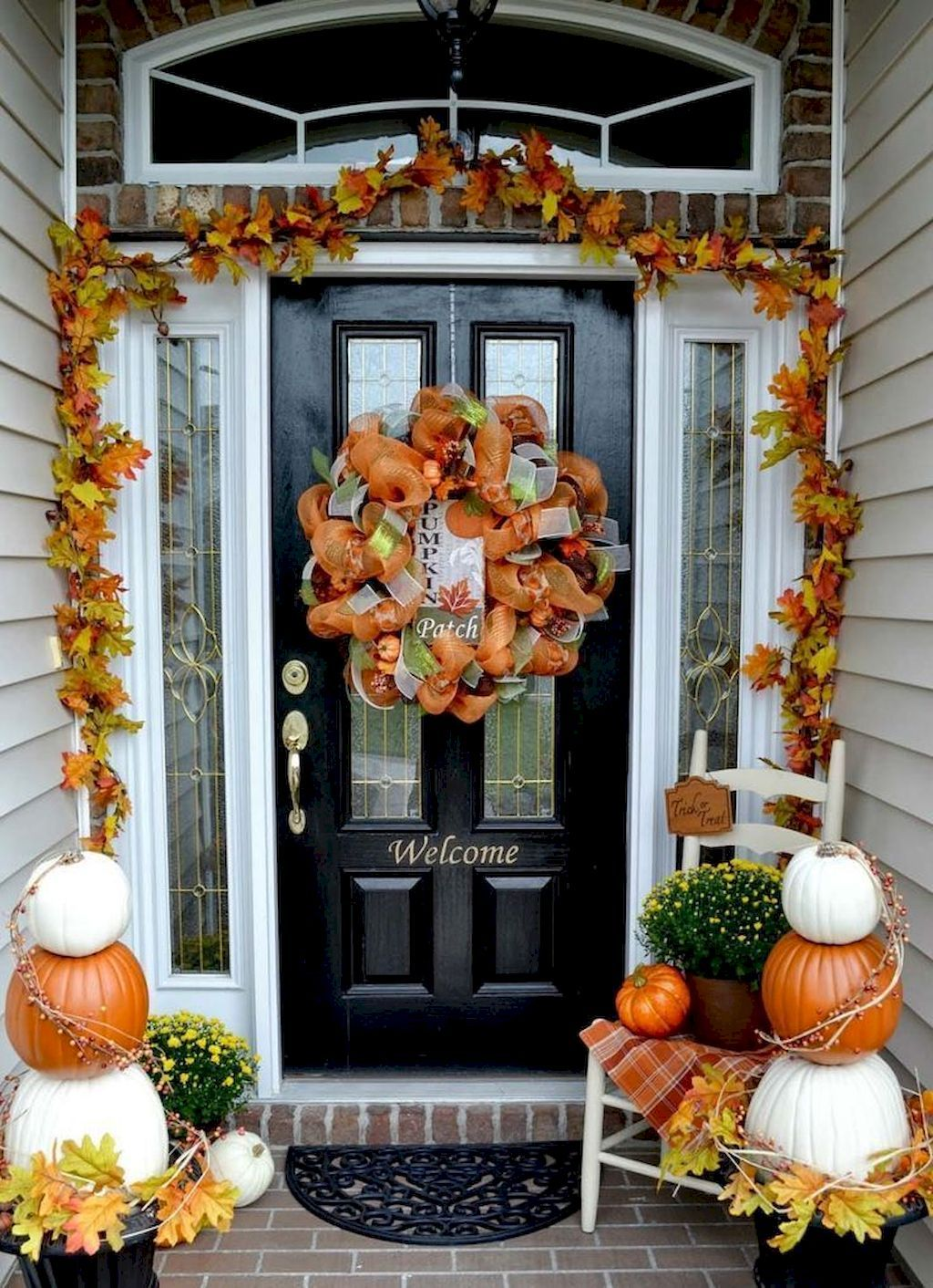 Beautiful Front Door Decoration For Fall Fall decor