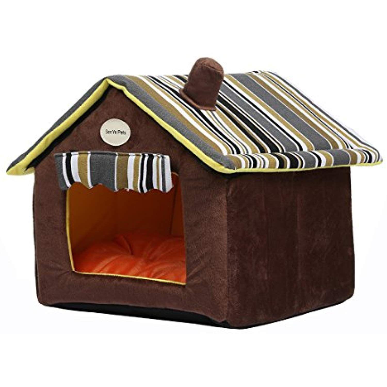 Senyepets Soft Indoor Dog Houses Pets Sponge Material Portable And