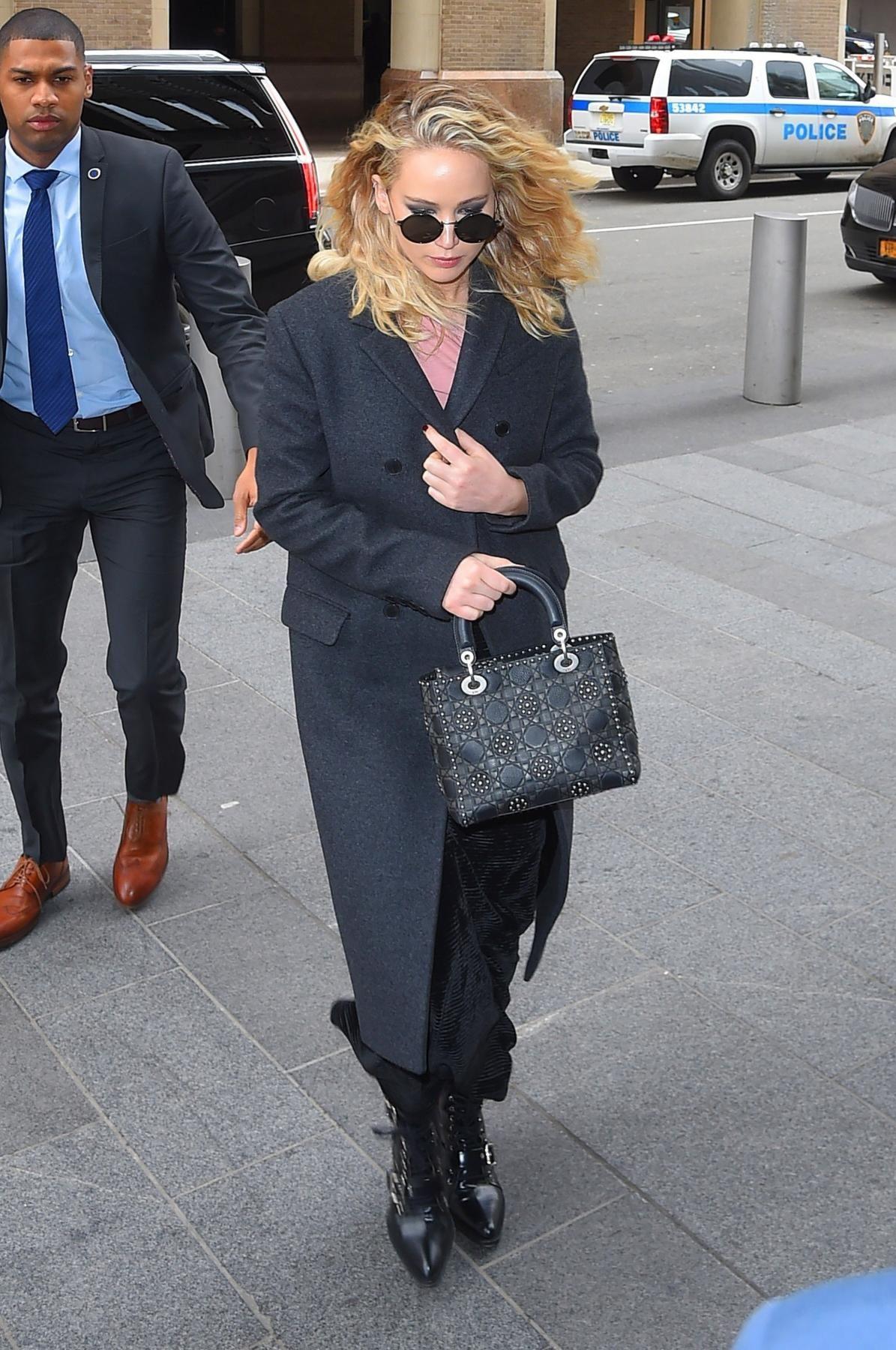 7ccb97076153 Jennifer Lawrence is wearing black Chloe Rylee Boots