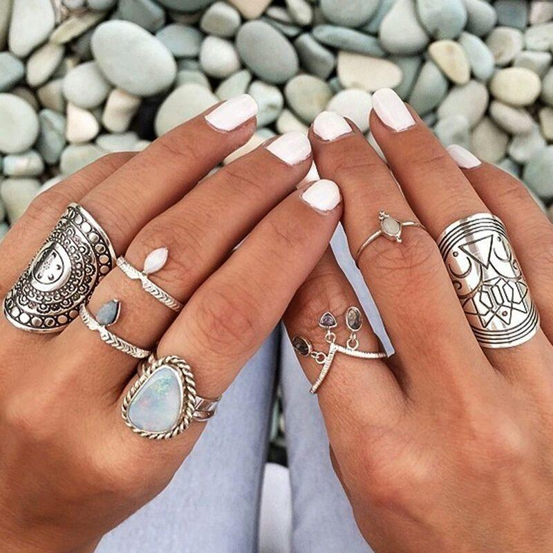 bijoux ethniques argent bague