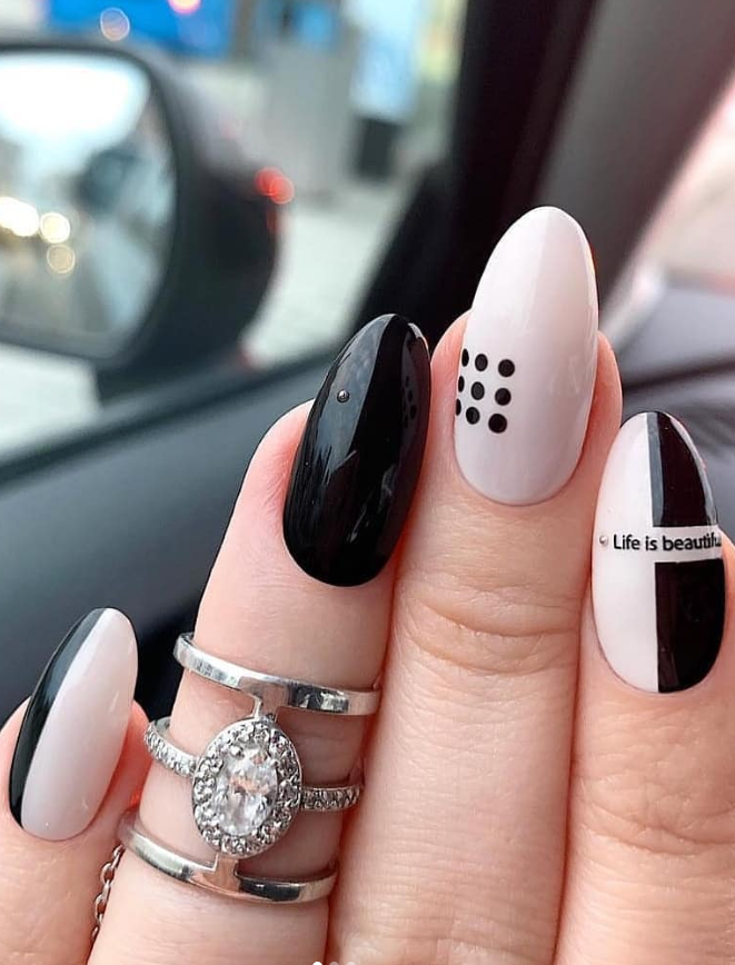 54 Perfect Short Acrylic Almond Nails Design For This Summer Page 30 Of 54 Latest Fashion Trends For Woman Almond Nails Designs Acrylic Nail Designs Nail Designs