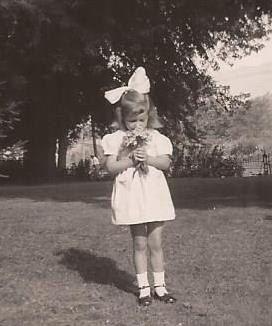 Little Girl Big Bow, Vintage Photograph, Black and White Snapshot, Little Girl…