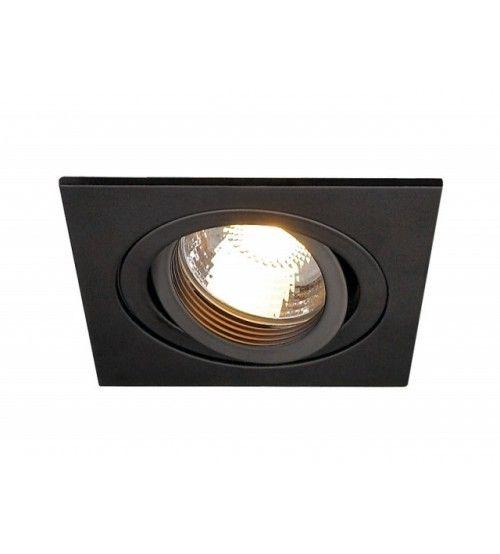 Inbouw Armatuur 1 Spot Kantelbaar Zwart Plafondverlichting Verlichting Spotjes
