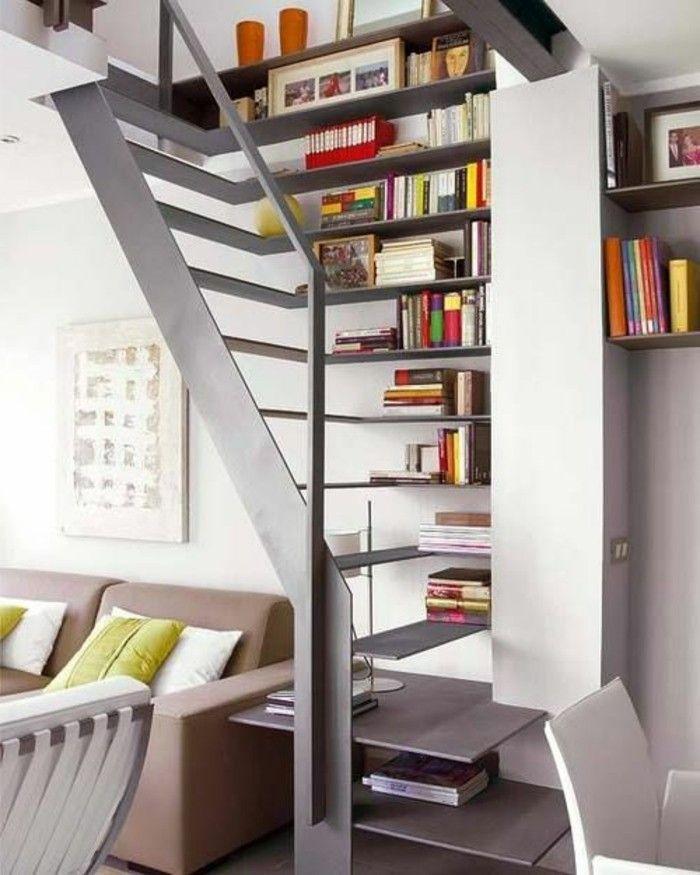 L tag re biblioth que comment choisir le bon design - Etagere escalier bois ...