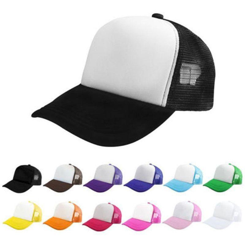 4815762a40e Blank Plain Snapback Hats Unisex Men s Hip-Hop adjustable bboy Baseball Cap  New