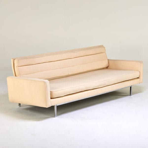 Anonymous; Chromed Steel Sofa by Knoll Associates, 1970s.