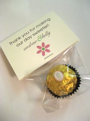 A Sweet Thank You Favor Wedding Diy Favors San Francisco