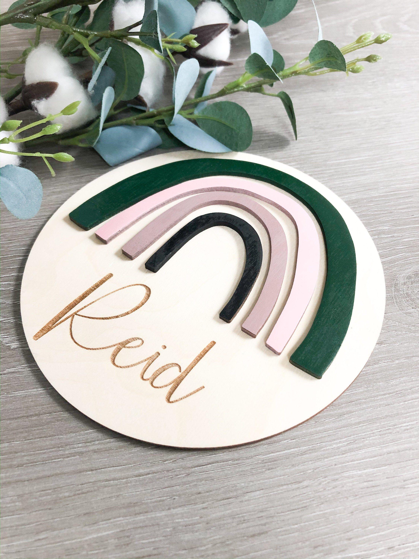 Rainbow Name Sign | Rainbow Baby | Rainbow Nursery Decor ...