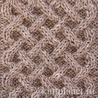 Поиск на Постиле: узор плетенка спицами схема 40