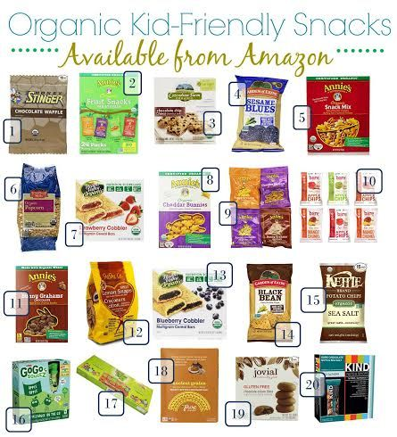 Stock Up on Popular Organic Kid-Friendly Snacks | Pin