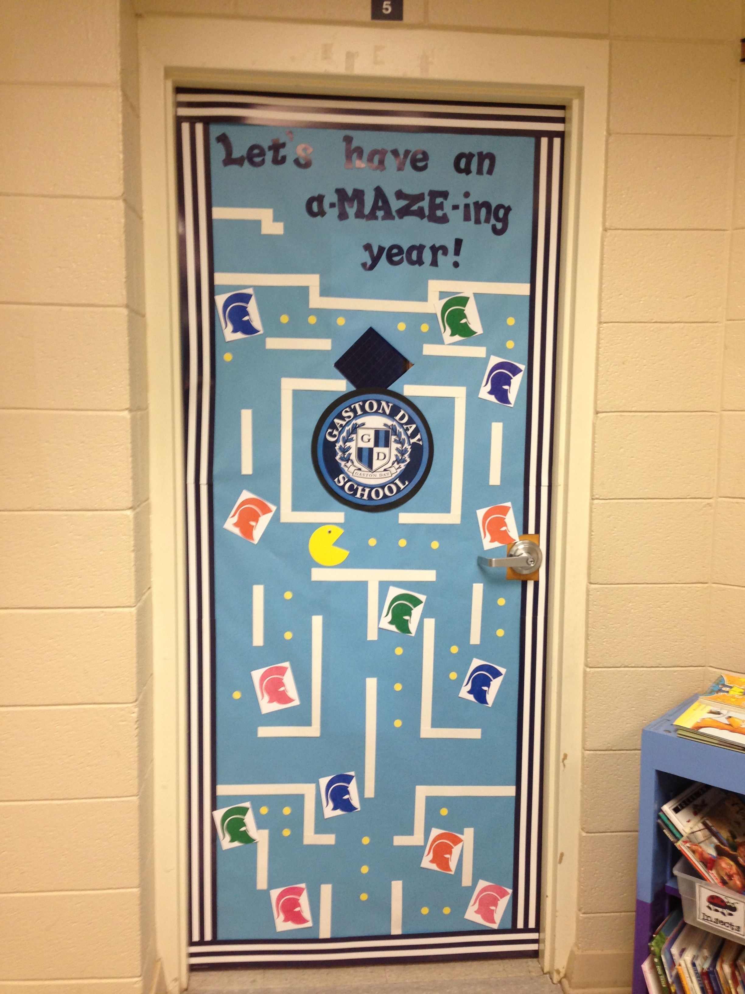 Back To School Classroom Door Decoration With School Mascot (All
