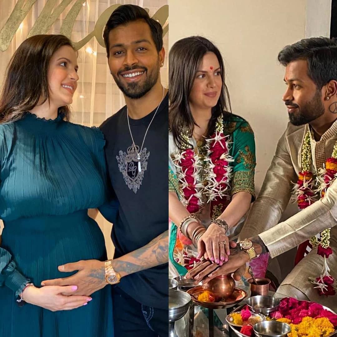 Hardik Pandya And Natasa Stankovic Wedding In 2020 Expecting Baby Celebrity Weddings First Child