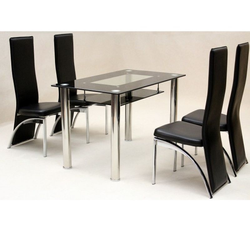 Get Your Own Affordable Yet Stylish Dining Room Set On Sale Dining Room Table Set Stylish Dining Room Black Glass Dining Table