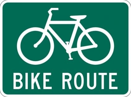 Bicicletas Ruta Senal Clip Con Imagenes Cuadros De
