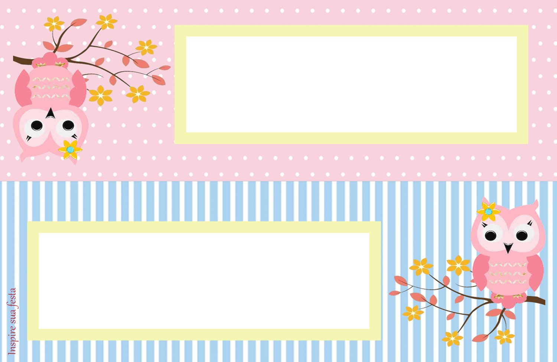 Cute Pink Owl Party Printables 020 Jpg 1500 975 Etiquetas De