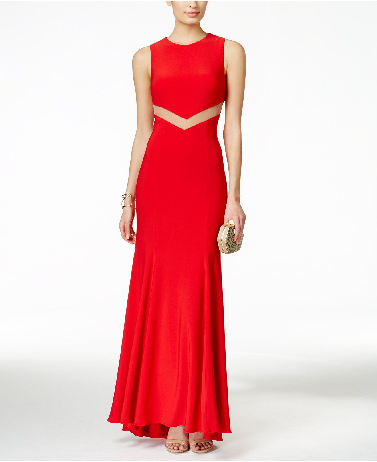 Betsy u adam mesh cutoutback sleeveless gown juniors shop all
