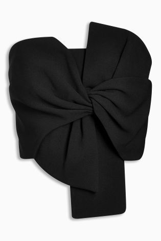 fb0ce236a80977 Buy Black Bow Top from the Next UK online shop